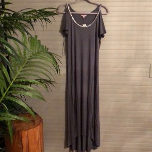 New Juicy Couture Grey Dress With Rinestone Collar